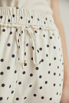 Pedro del Hierro Printed pyjama trousers Ivory