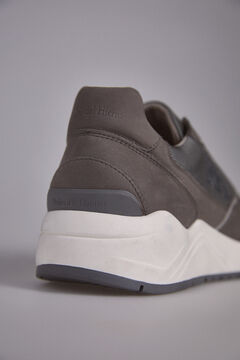 Pedro del Hierro Leather sneaker rubber floor Grey