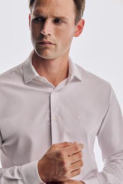 Pedro del Hierro Slim fit white super stretch dress shirt White