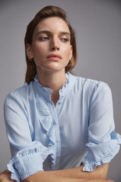 Pedro del Hierro Flounced blouse Blue