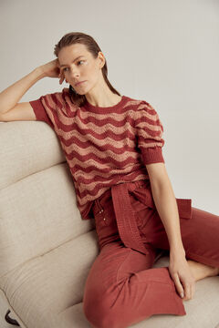 Pedro del Hierro Wavy patterned jumper Red