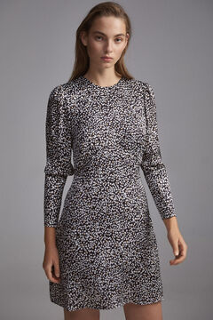 Pedro del Hierro Printed short dress Grey