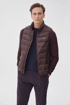 Pedro del Hierro Ultralight quilted gilet Brown