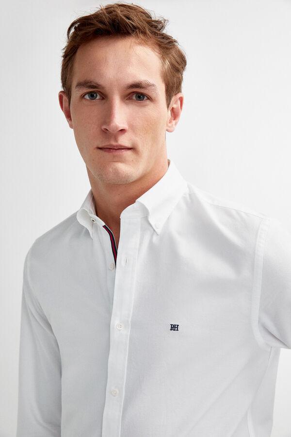 Pedro del Hierro Camisa oxford lisa Blanco c8d22f0916290