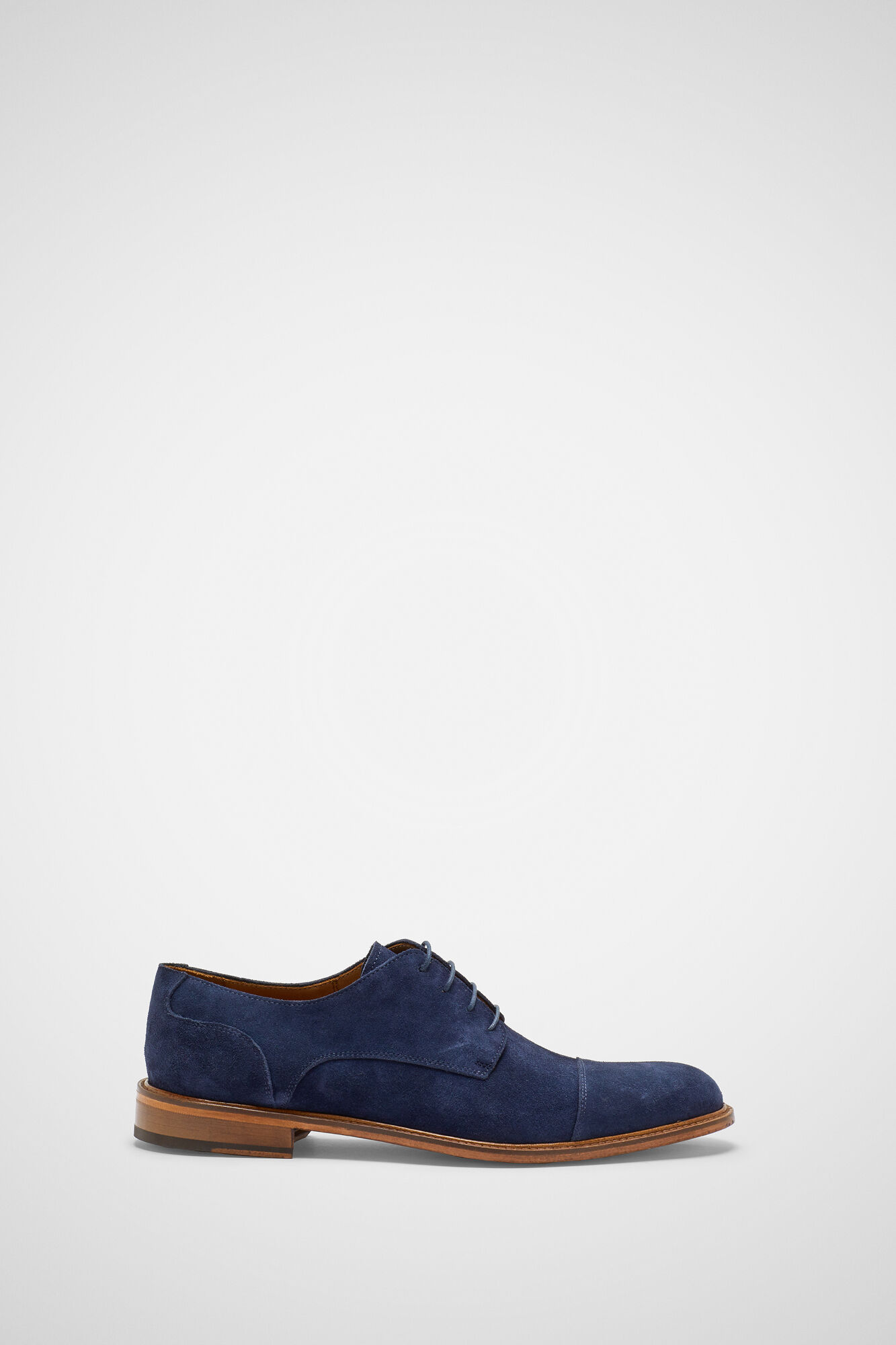 Pedro del Hierro Lace-up split leather bluchers Blue