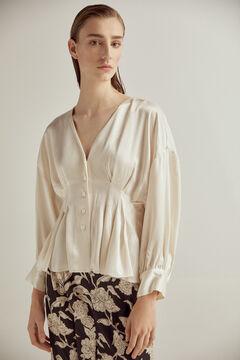 Pedro del Hierro V-neck blouse Ecru