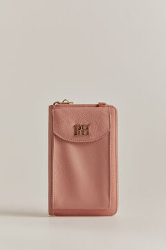 Pedro del Hierro Leather bag wallet type Pink