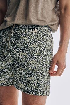 Pedro del Hierro Calções de banho estampados camuflagem com bolsa da marca Cizento