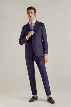 Pedro del Hierro Checked blue tailored fit blazer Blue