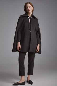 Pedro del Hierro Shirt collar cape Grey