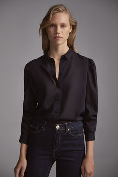Pedro del Hierro Blouse with gathered sleeves Blue