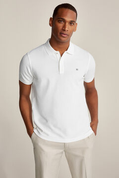 Pedro del Hierro Essential short-sleeved polo shirt White