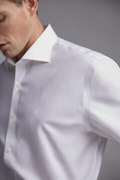 Pedro del Hierro Plain tailored fit tech-non iron dress shirt White