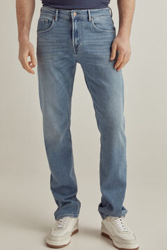 Pedro del Hierro Regular fit light wash jeans Blue