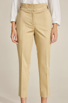 Pedro del Hierro Pleated waistband trousers Brown