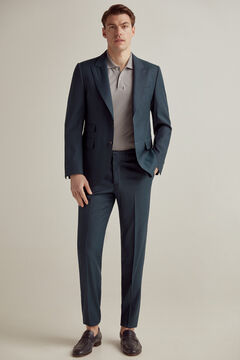 Pedro del Hierro Green slim fit trousers Green