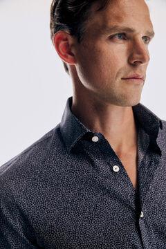 Pedro del Hierro Micro print Travel Collection shirt Blue