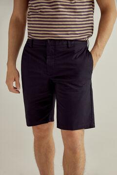 Pedro del Hierro Lightweight Bermuda shorts with elasticated waist sides  Blue