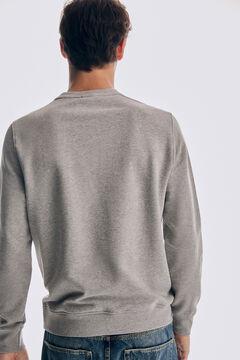 Pedro del Hierro Crew neck logo sweatshirt Grey