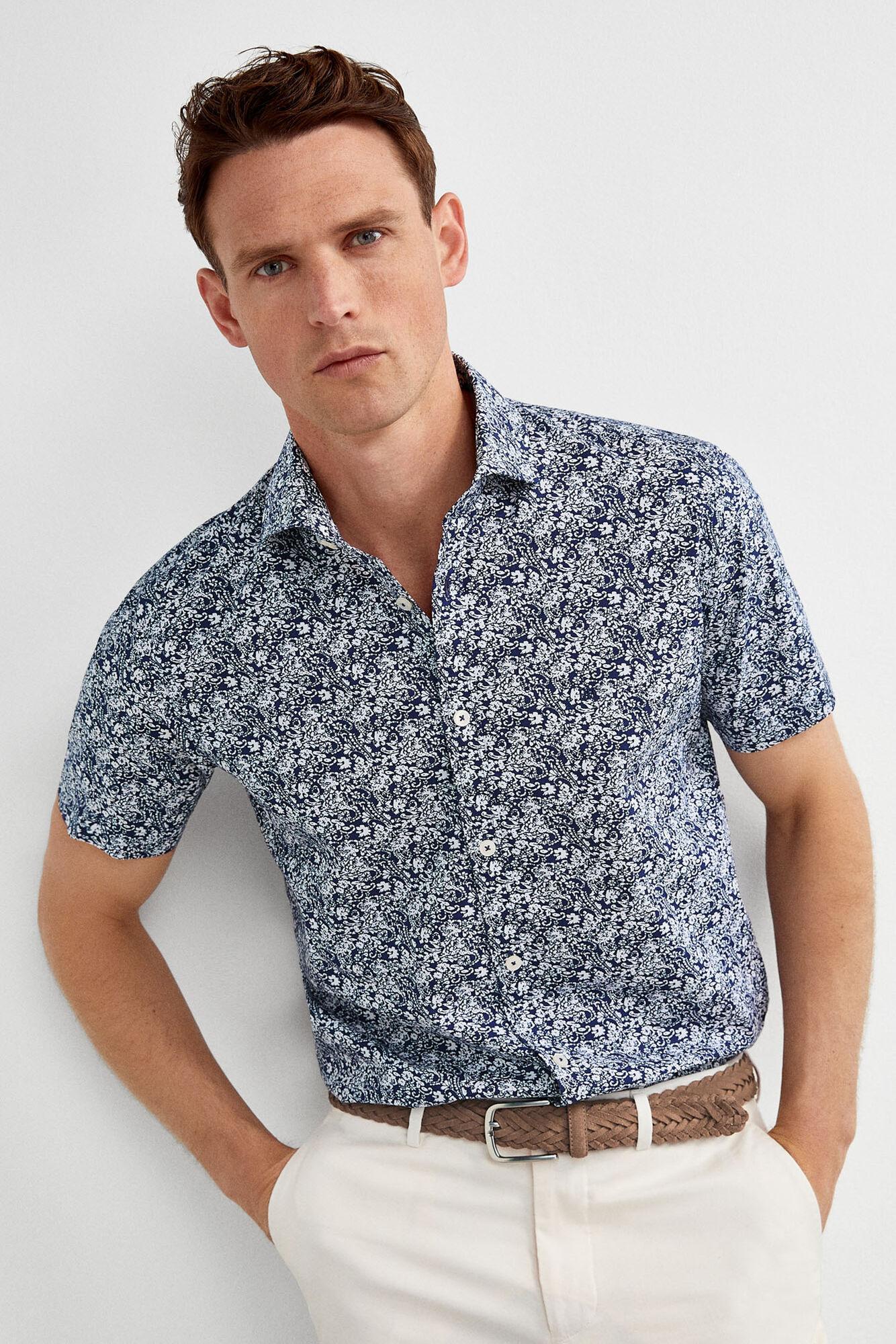 44463eb55fbd Printed short-sleeve shirt   Shirts   Pedro del Hierro Man & Woman