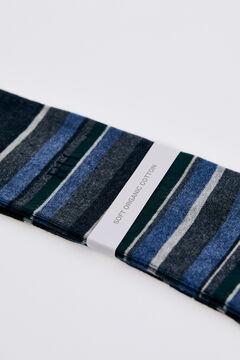 Pedro del Hierro Stripy logo socks Grey