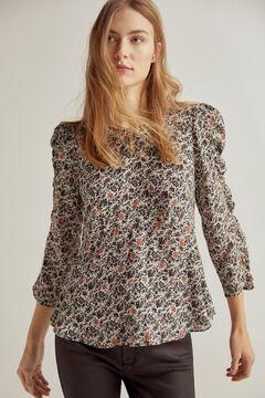 Pedro del Hierro Floral print blouse Grey