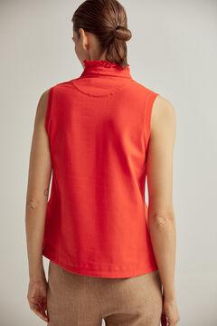 Pedro del Hierro Plain flounced polo shirt Red
