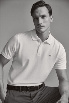 Pedro del Hierro Smooth polo shirt White