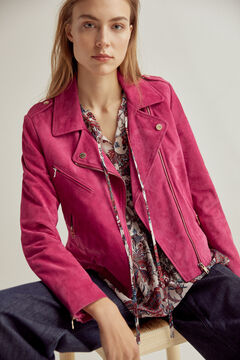 Pedro del Hierro Perfect suede jacket Pink