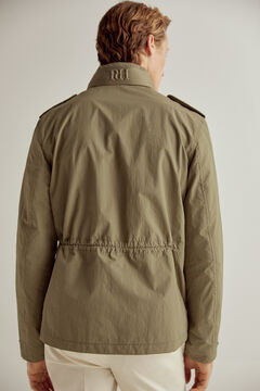 Pedro del Hierro Big logo jacket with four pockets Green