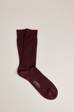 Pedro del Hierro Plain dress socks            Red