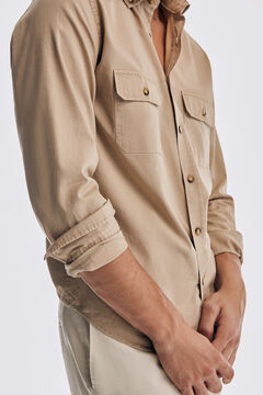 Pedro del Hierro Garment dyed trench coat Beige