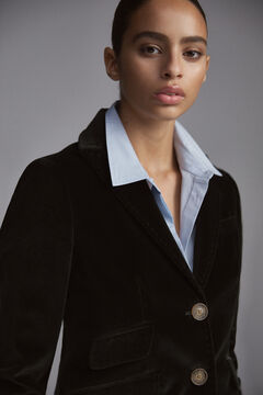 Pedro del Hierro 100% cotton velvet blazer Green