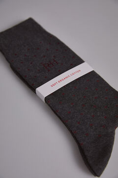 Pedro del Hierro Polka-dot socks Grey