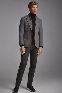 Pedro del Hierro Jersey-knit travel blazer with removable lining Grey