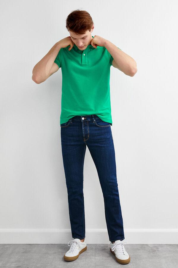 faa1c75181505 Pedro del Hierro Polo manga corta tailored fit Verde