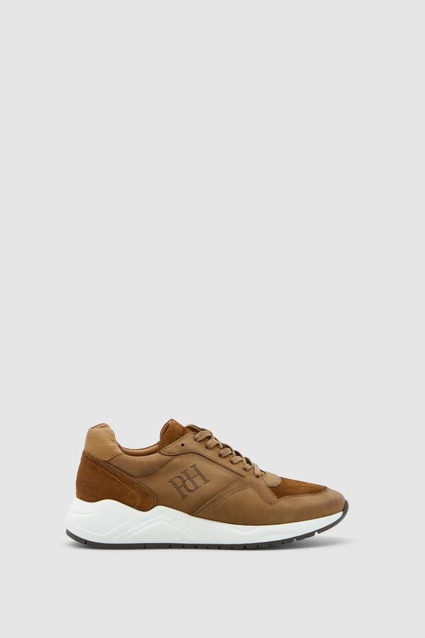 Pedro del Hierro Sneaker piel nobuck Marrón 0fb4fe580e539