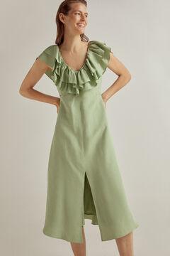 Pedro del Hierro Viscose linen dress Green