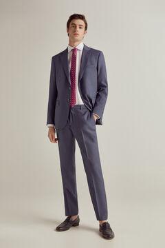 Pedro del Hierro Tailored fit birdseye trousers Blue
