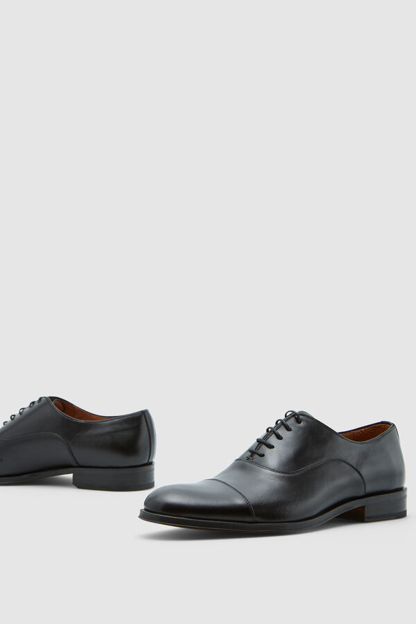 d607cc73736 Pedro del Hierro Leather Oxford shoes with laces Black