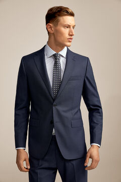 Pedro del Hierro Americana microdibujo azul tailored fit Blue