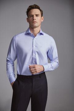 Pedro del Hierro Camisa de vestir tech-non iron lisa classic Blue