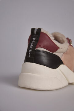 Pedro del Hierro Multicoloured chunky trainer Red
