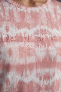 Pedro del Hierro Tie dye print t-shirt with embroidered logo Pink