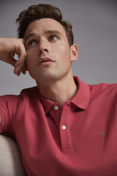 Pedro del Hierro Short-sleeved PdH logo polo shirt Red