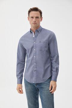 Pedro del Hierro Iconic plain Oxford shirt Blue