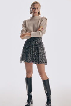 Pedro del Hierro Printed draped skirt Grey