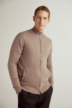 Pedro del Hierro Zip-up cardigan Beige