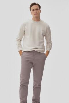 Pedro del Hierro Regular fit textured chinos Grey