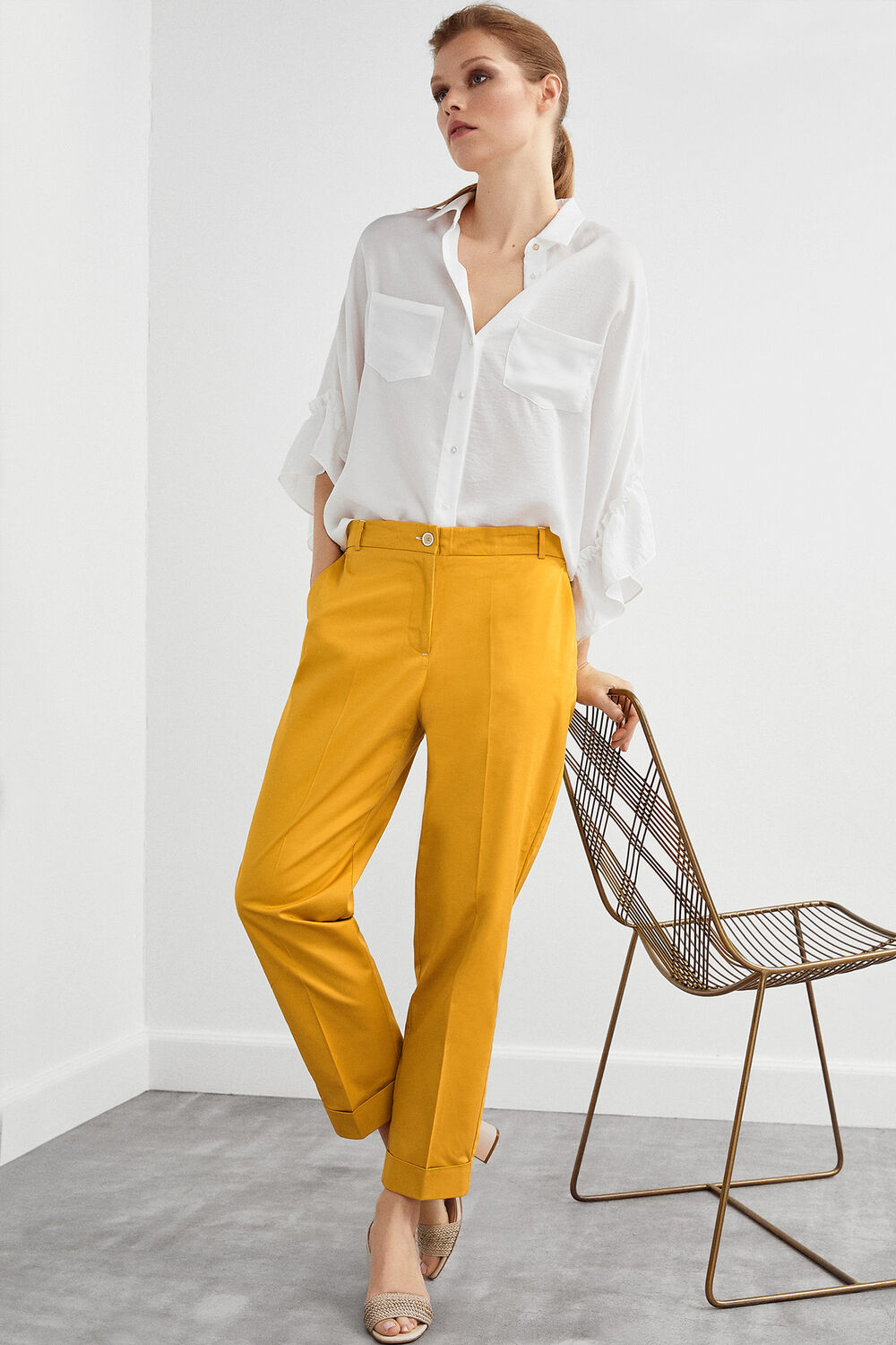 7faf245c Pedro del Hierro Chinos with elasticated waist Yellow